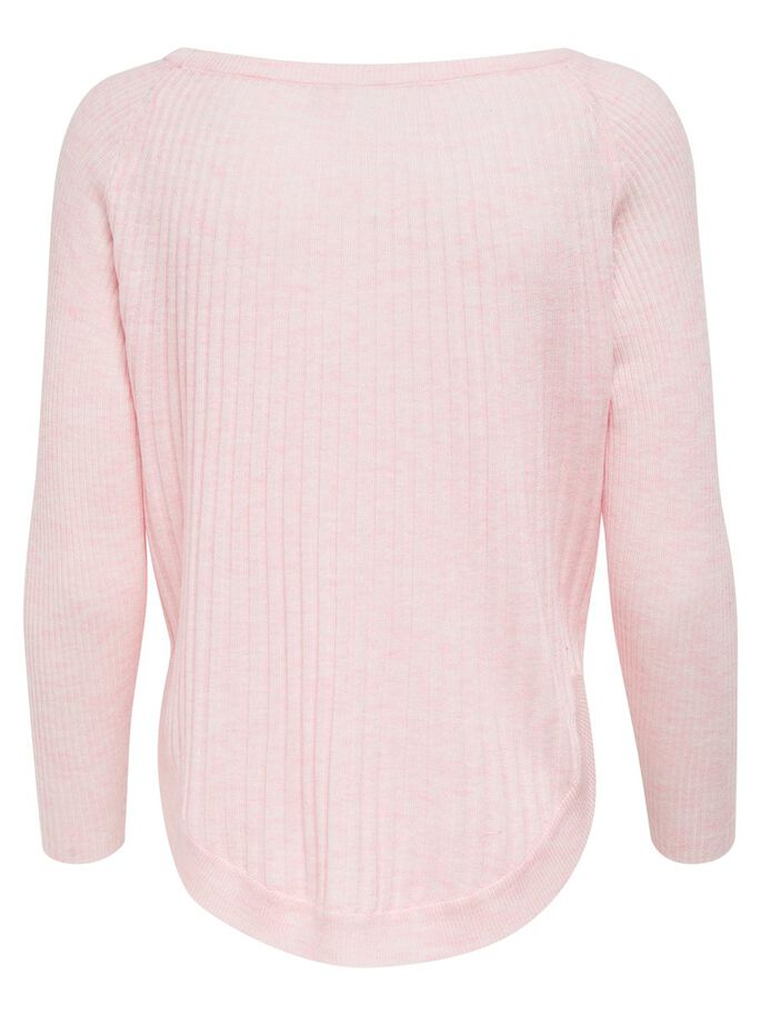 LOOSE KNITTED PULLOVER, Rose Quartz, large