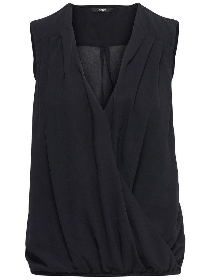 WIKKEL MOUWLOZE TOP, Black, large