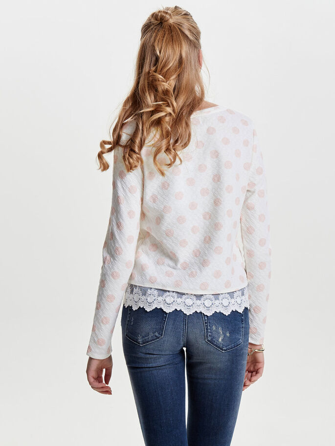 DETAILED SWEATSHIRT, Cloud Dancer, large
