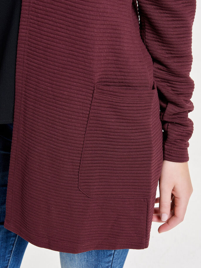 LONG SWEAT CARDIGAN, Zinfandel, large