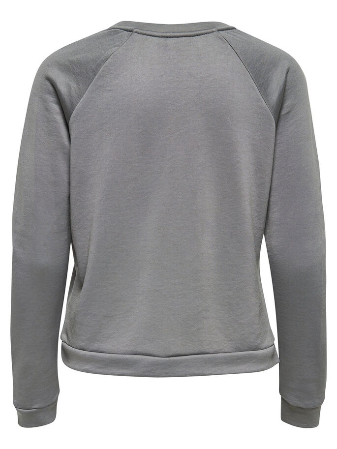 RÜSCHEN- SWEATSHIRT, Dark Grey, large