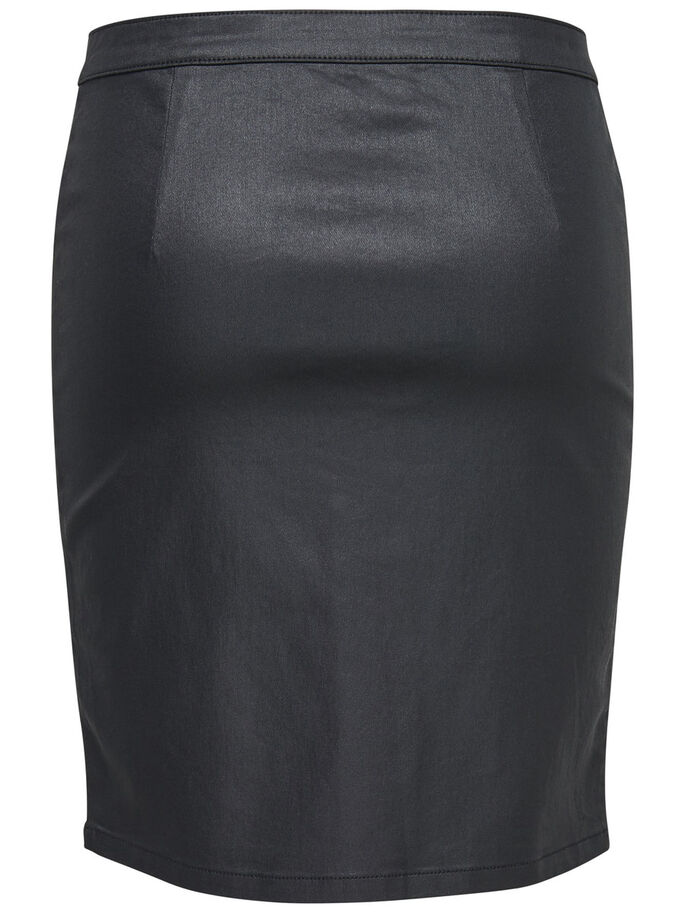 COATED SKIRT, Black, large