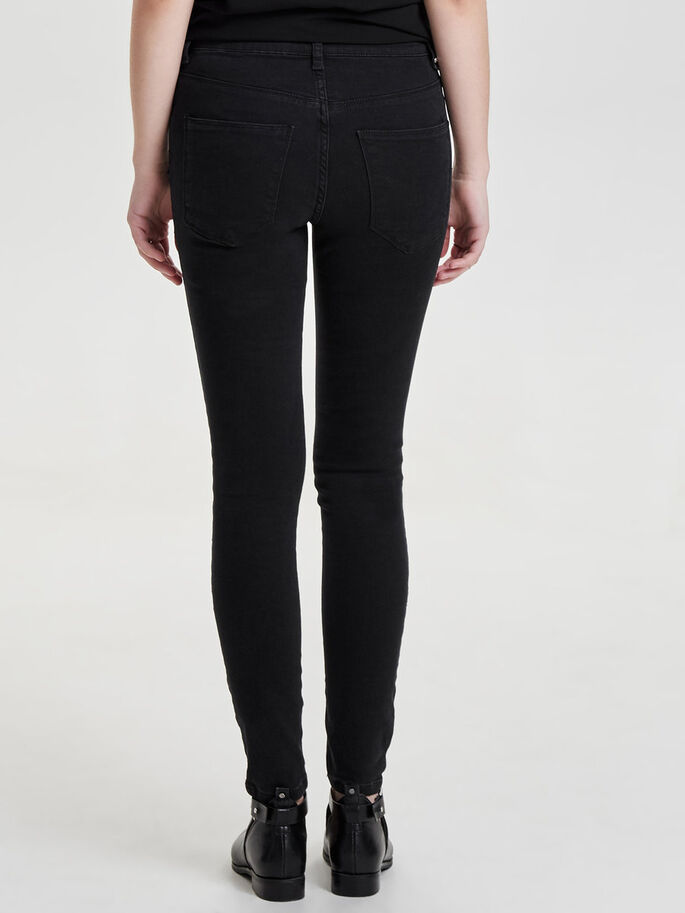 STUDIO MW SILVER SKINNY FIT JEANS, Black Denim, large