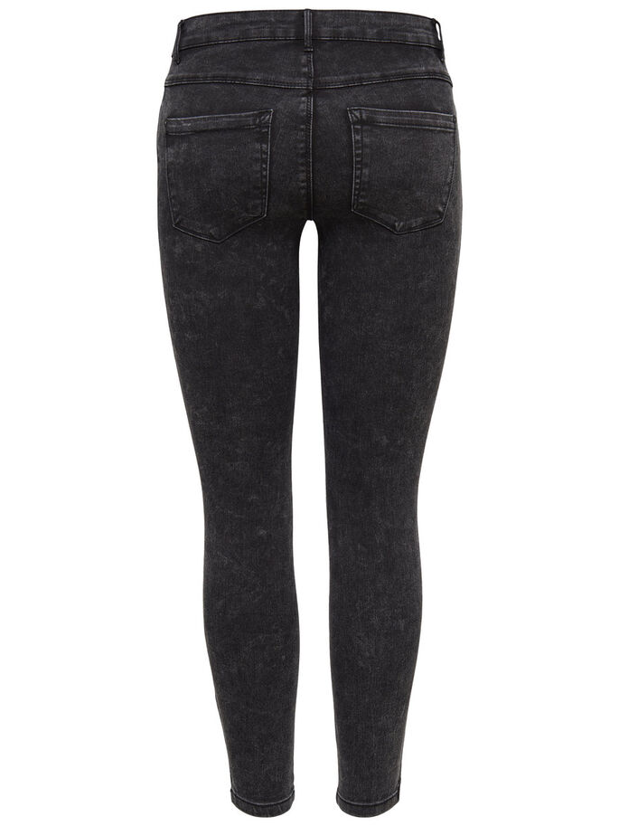 ROYAL REG ANKLE FERMETURE ÉCLAIR JEAN SKINNY, Black, large