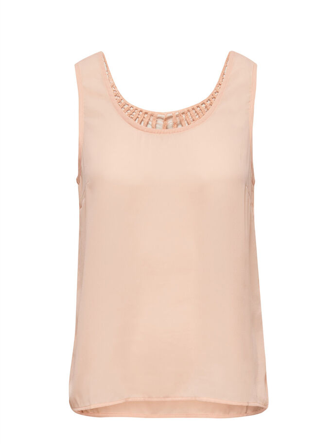 GANCHILLO TOP SIN MANGAS, Peach Melba, large