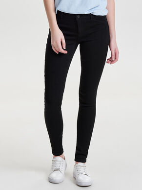 JDY SKINNY LOW ULLE BLACK JEANS SLIM FIT