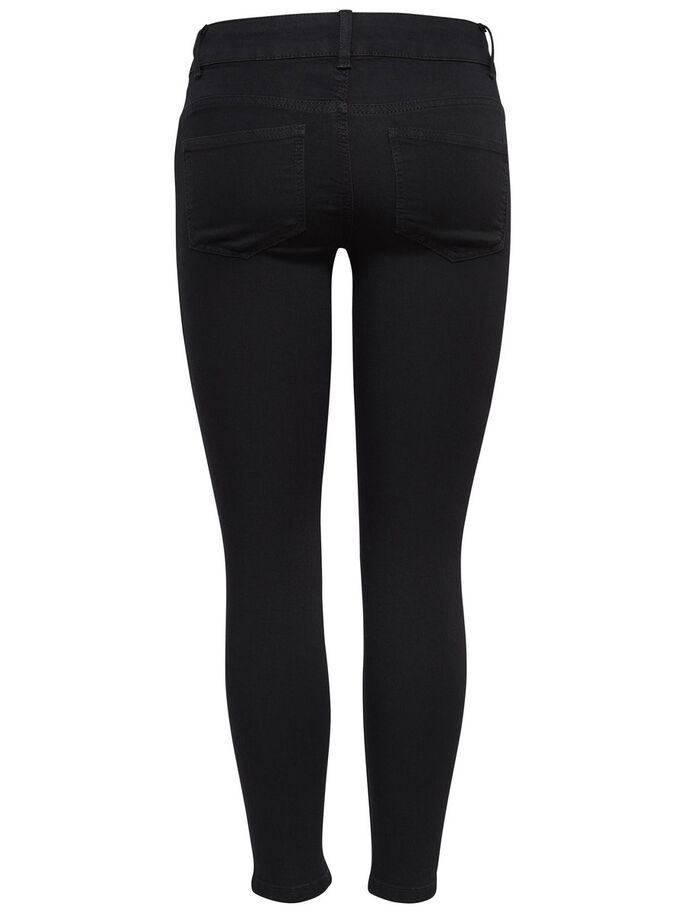 LOW FANO KNEECUT SKINNY JEANS, Black, large