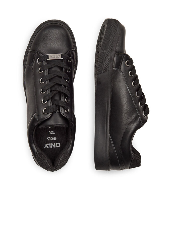 SHINY SNEAKERS, Black, large