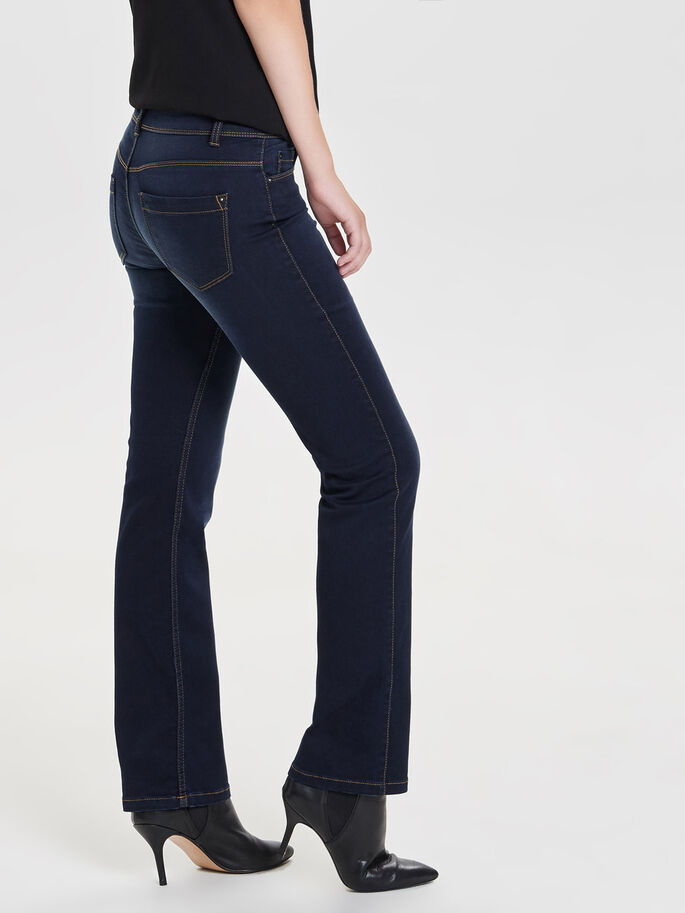 TELA MUY SUAVE JEANS STRAIGHT FIT, Dark Blue Denim, large