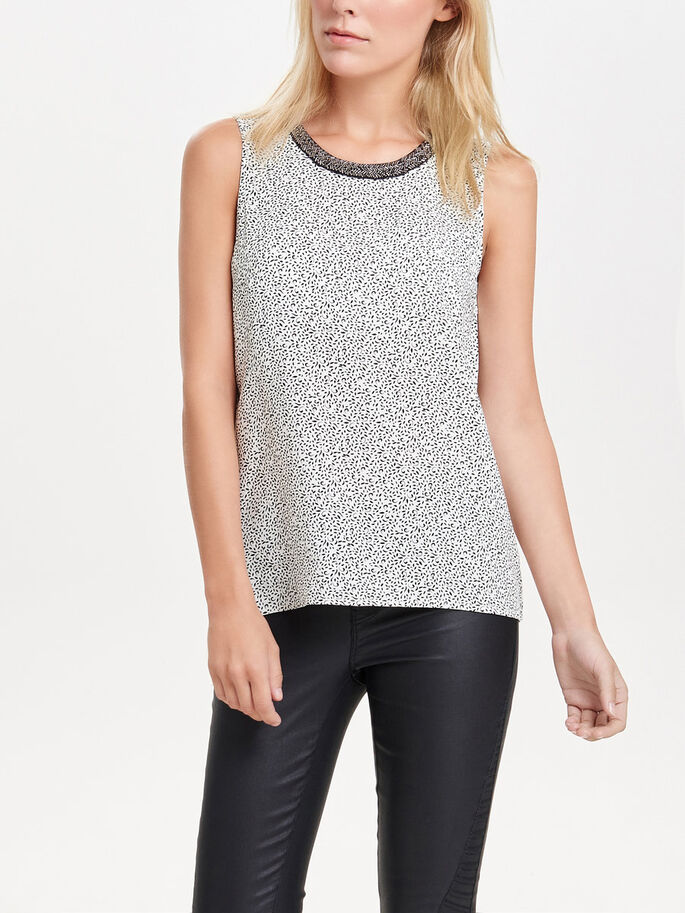 DETAILED SLEEVELESS TOP, Marshmallow, large