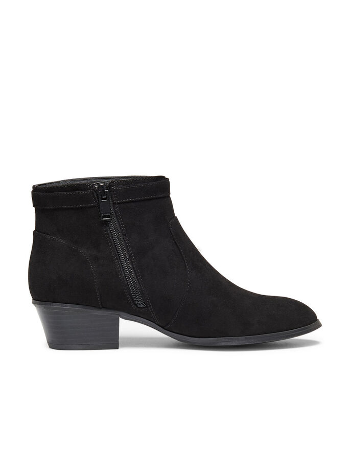 SHORT FRINGE BOOTS, Black, large