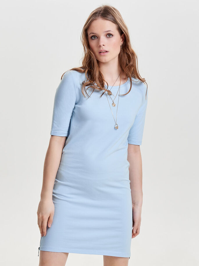 DETAILED DRESS, Cashmere Blue, large