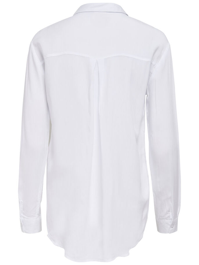 KLASSISK LANGERMET SKJORTE, Bright White, large