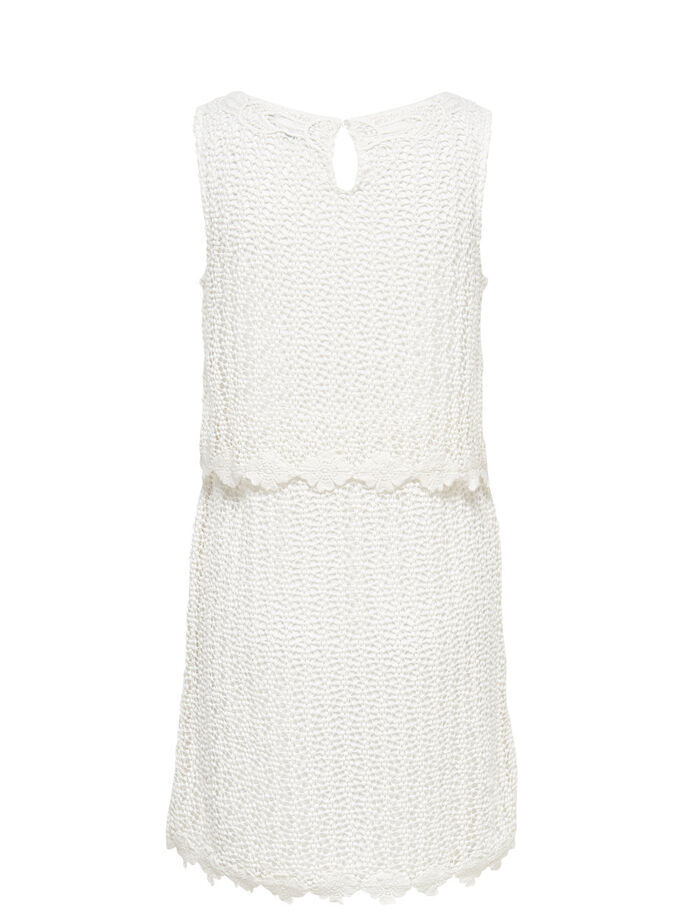 CROCHET SLEEVELESS DRESS, Cloud Dancer, large