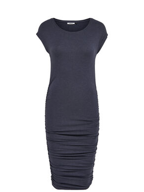 WRINKLE SHORT SLEEVED DRESS