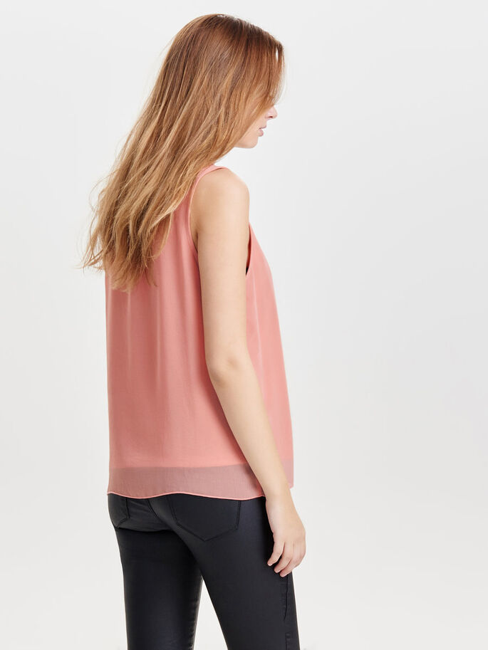 DETAILED SLEEVELESS TOP, Rose Dawn, large