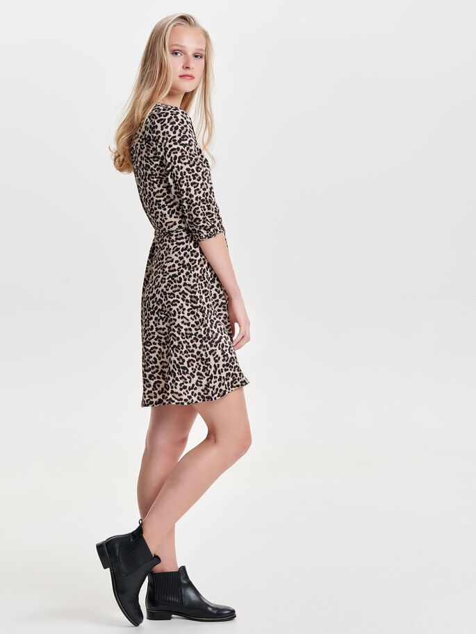 PRINTED DRESS, Pumice Stone, large