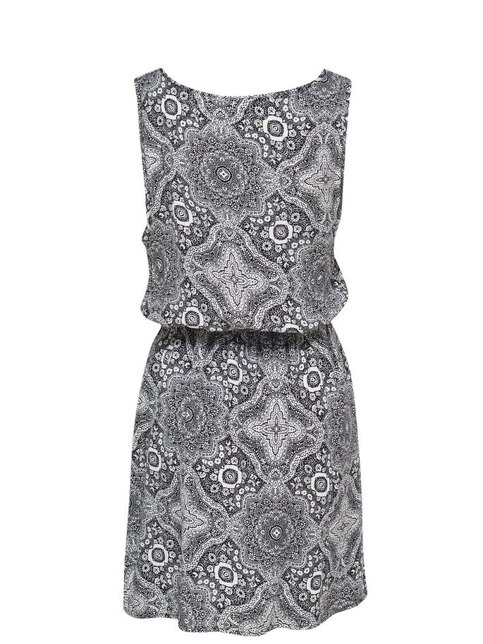 PRINTED SLEEVELESS DRESS, Cloud Dancer, large
