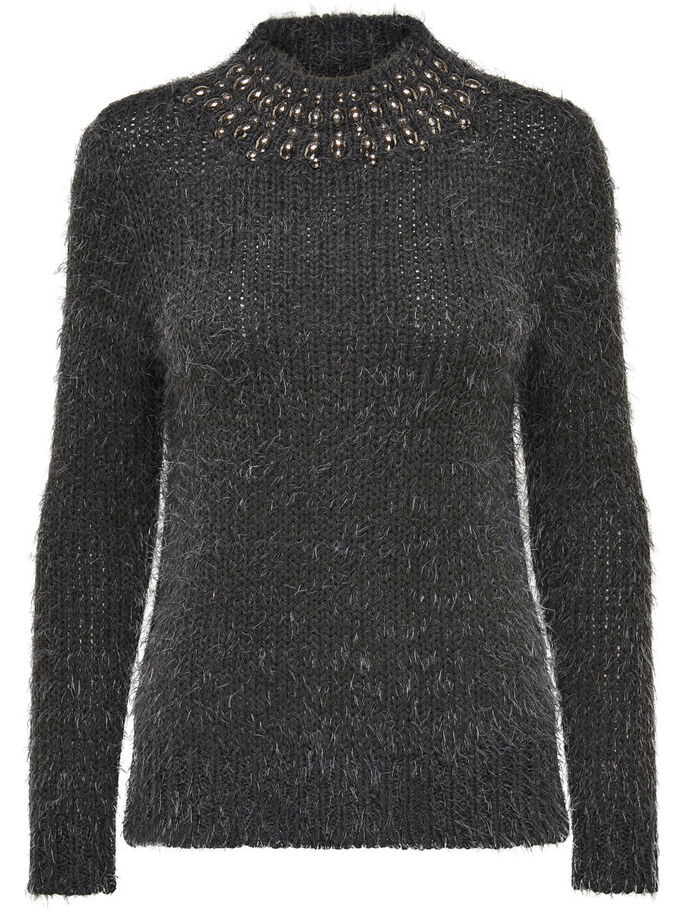 DETAILED KNITTED PULLOVER, Phantom, large