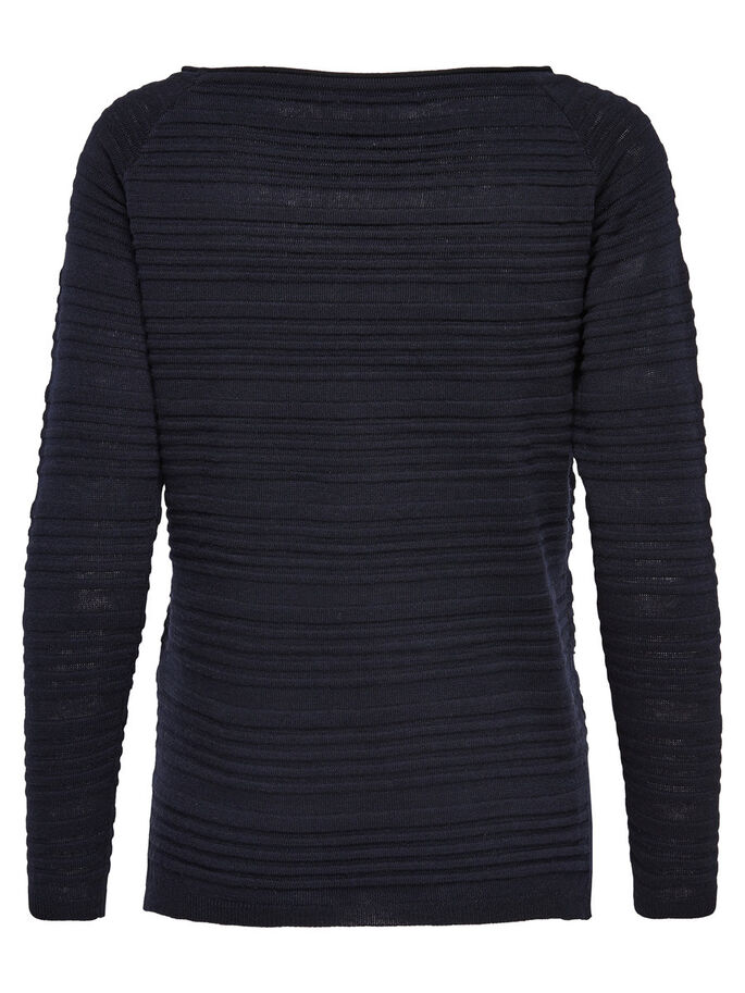 DETAILED KNITTED PULLOVER, Night Sky, large