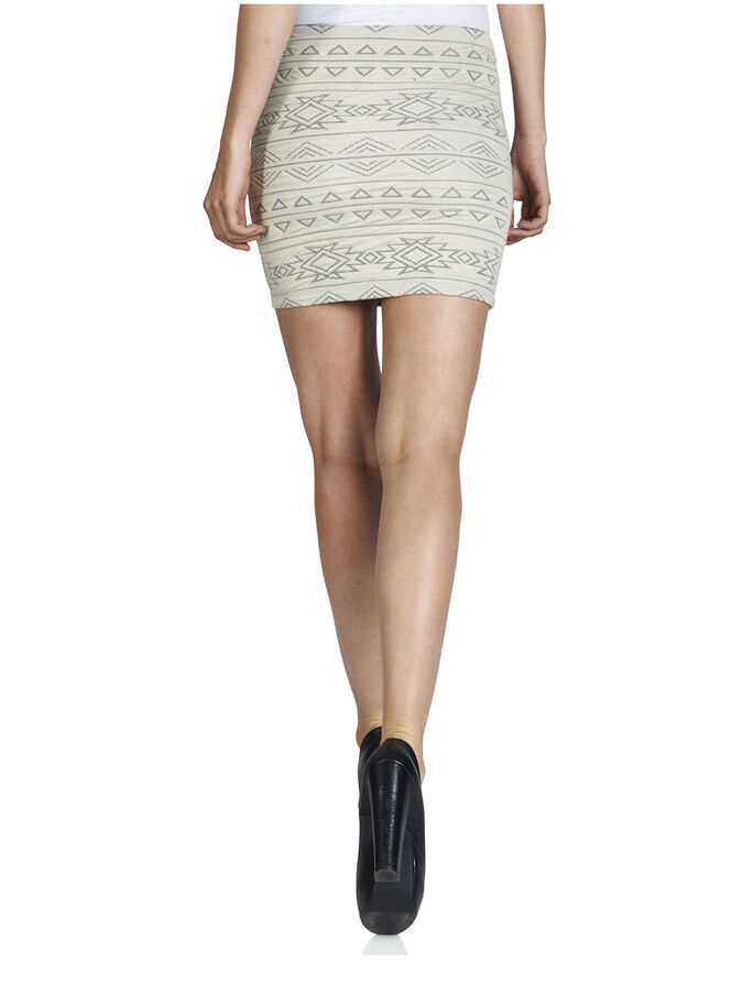 KNITTED SKIRT, Oatmeal, large