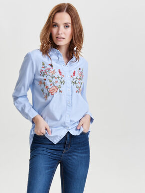 EMBROIDERY LONG SLEEVED SHIRT