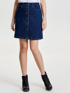 A-SHAPE DENIM SKIRT
