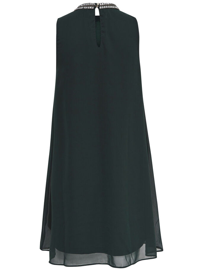 A-SHAPED SLEEVELESS DRESS, Scarab, large