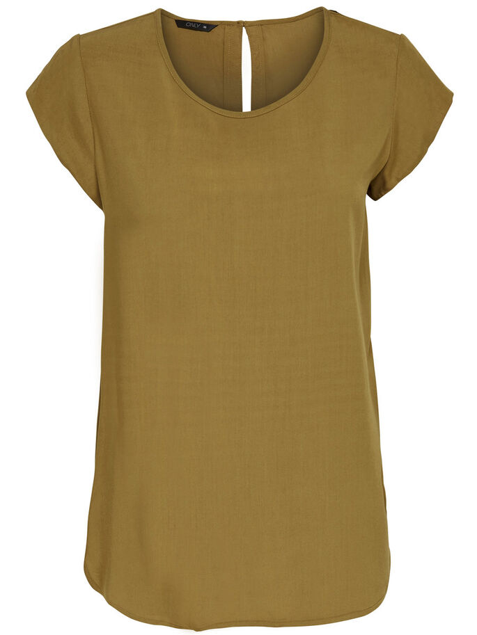 LOOSE SHORT SLEEVED TOP, Rubber, large