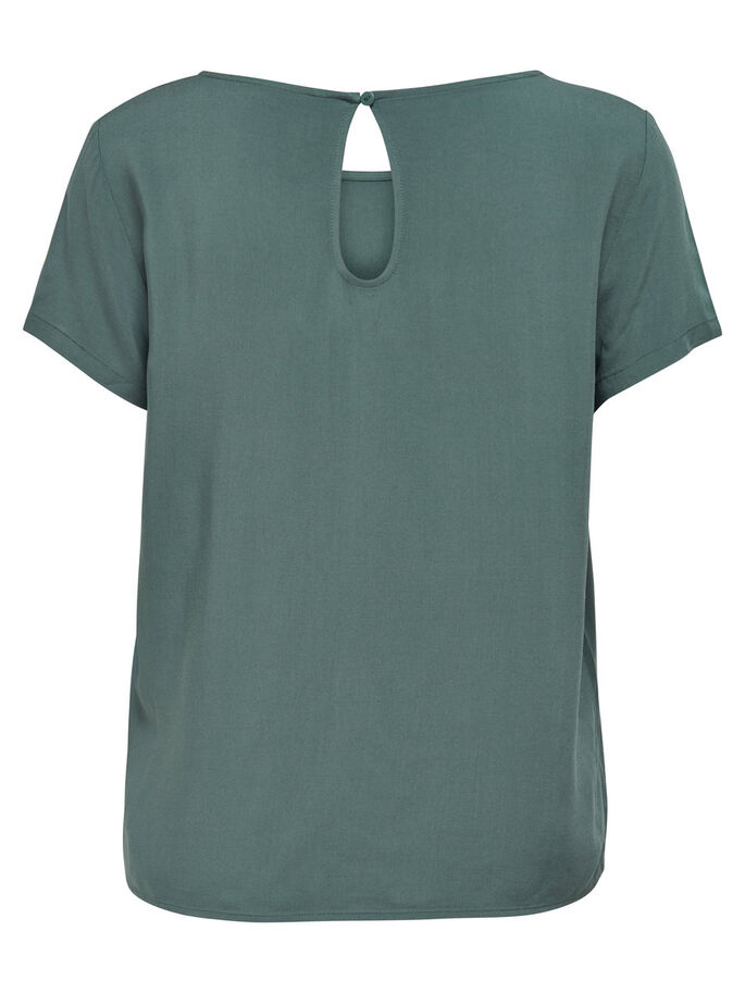 SOLID SHORT SLEEVED TOP, Balsam Green, large