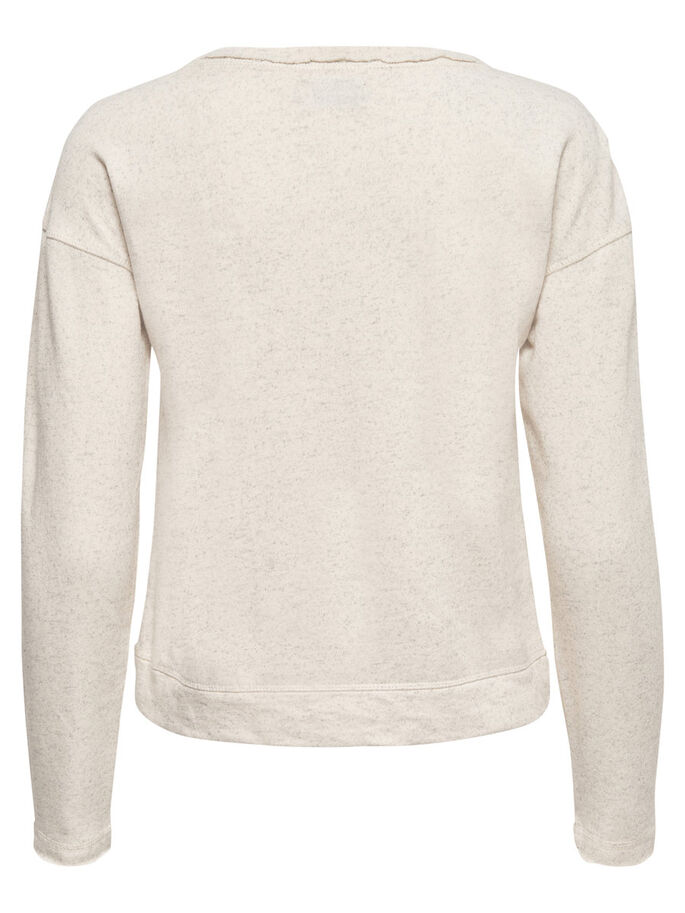 DETAILED SWEATSHIRT, Pumice Stone, large