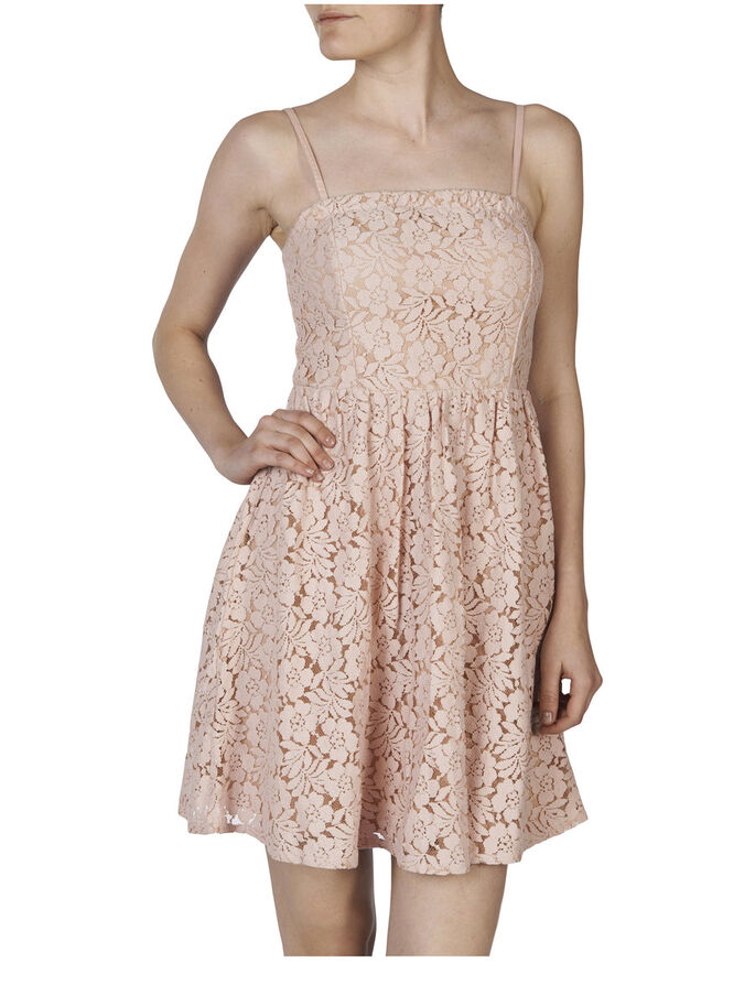 TUBE LACE DRESS, Rose Smoke, large