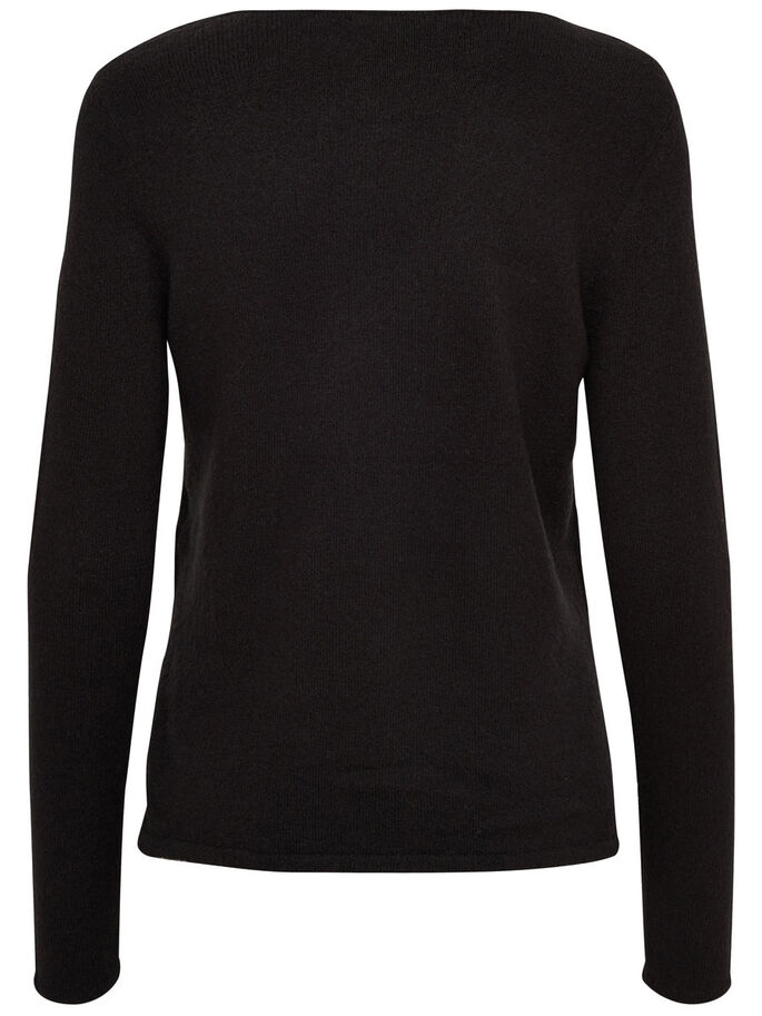 PAILLETTEN- STRICKPULLOVER, Black, large