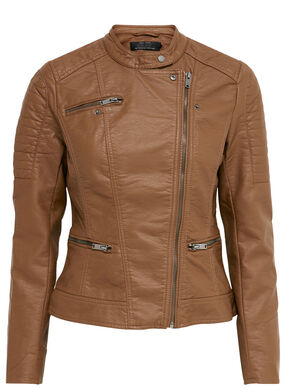 LEATHER LOOK SHORT JACKET