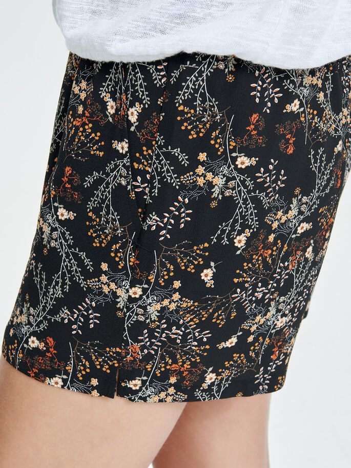 PRINT SHORTS, Black, large