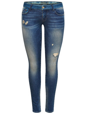 CORAL SUPERLOW TONED SKINNY FIT JEANS