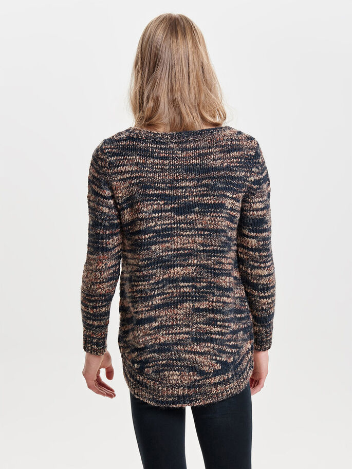 LØS STRIKKET PULLOVER, Night Sky, large