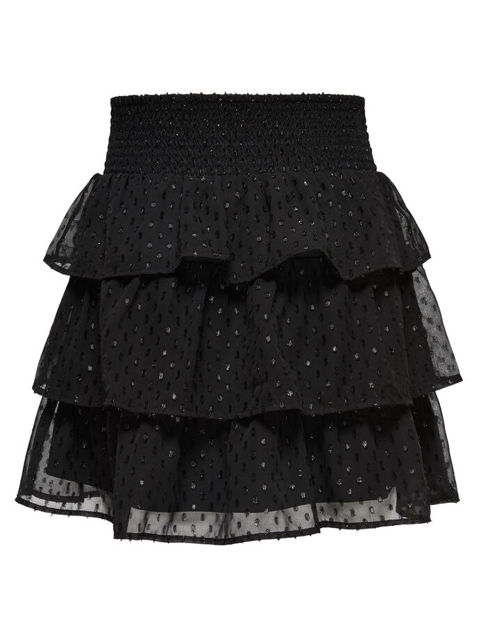 FRILL SKIRT, Black, large