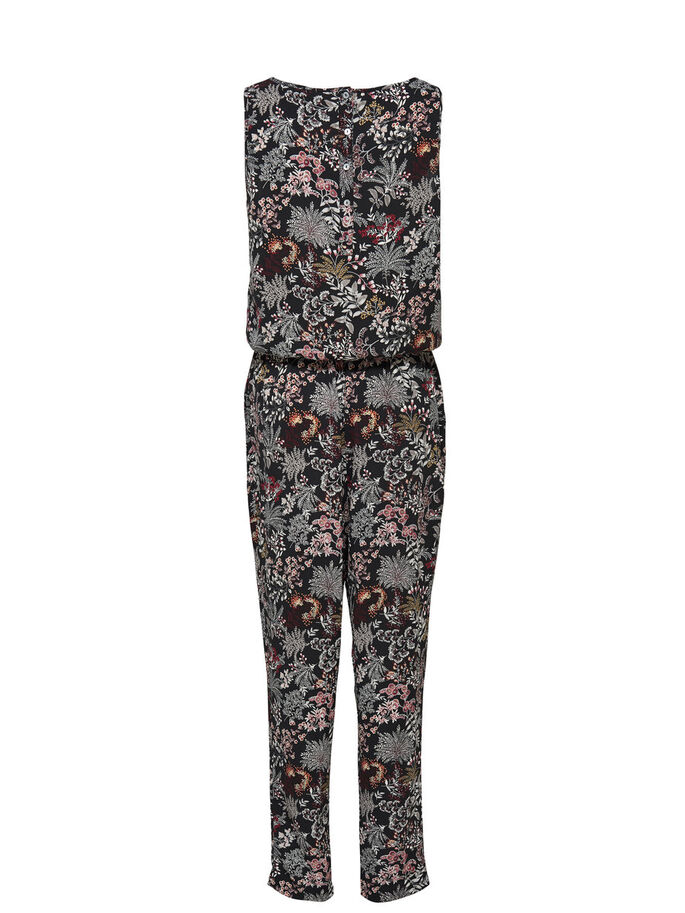 PRINTED JUMPSUIT, Black, large