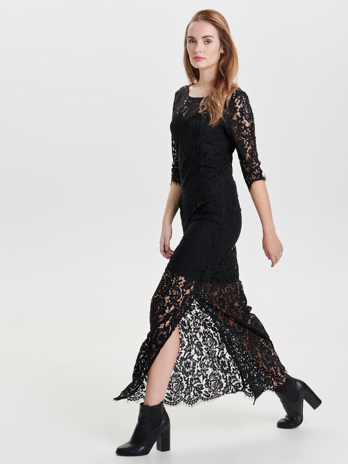 BLONDE MAXIKJOLE, Black, large