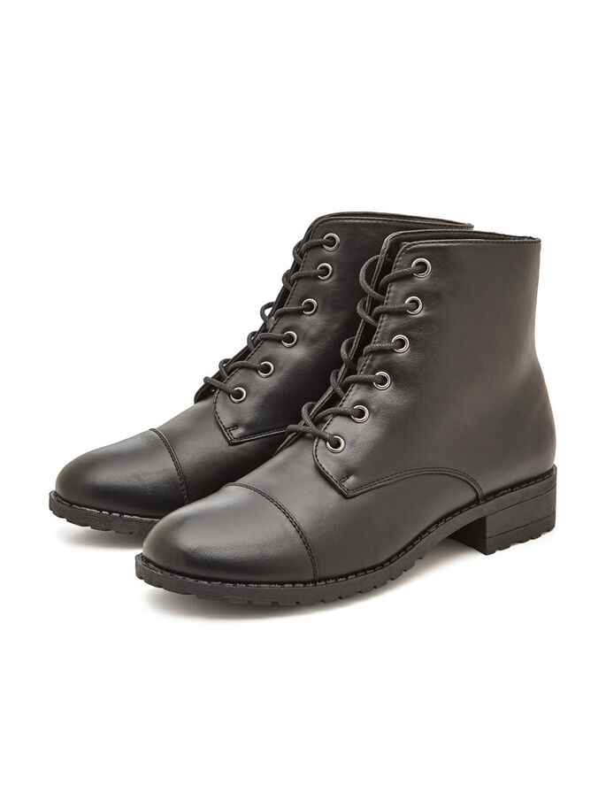HIGH LACE UP BOOTS, Black, large