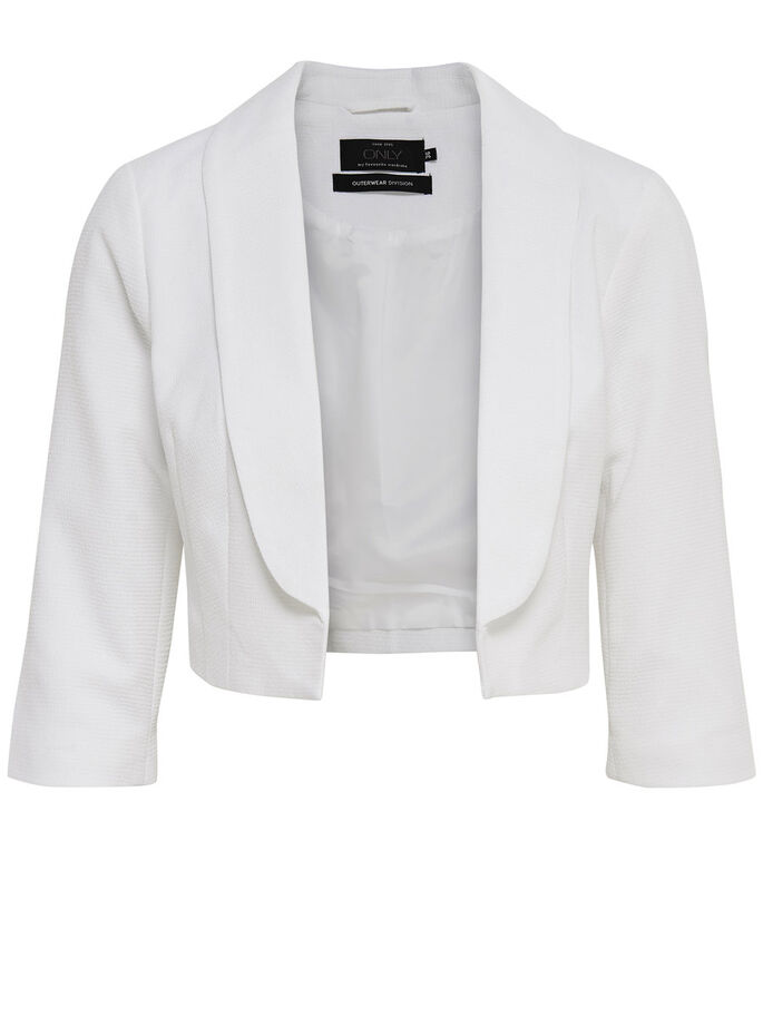 BLAZER BOLERO, White, large