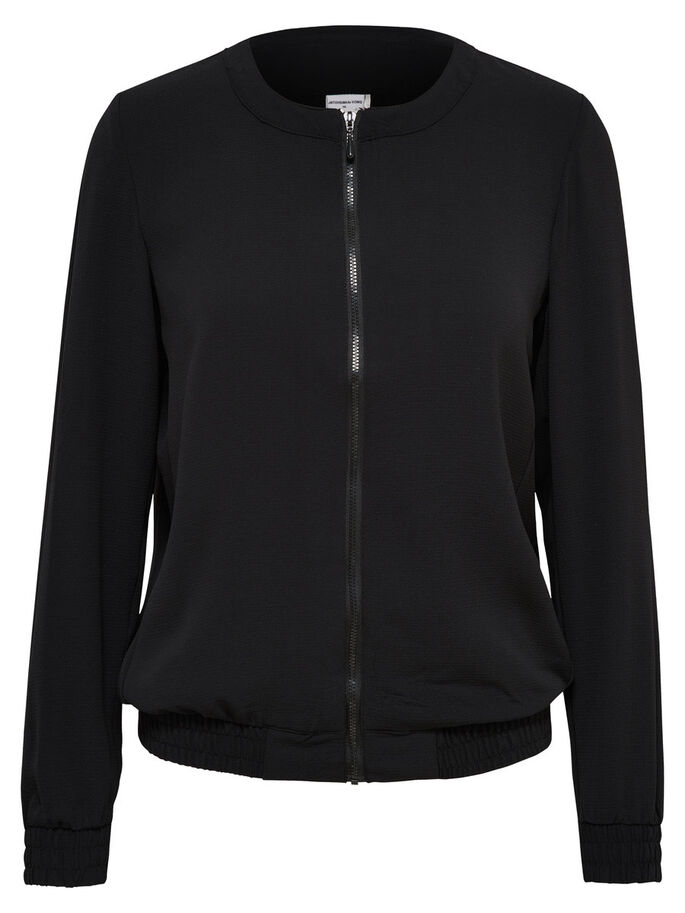BOMBER CHAQUETA, Black, large