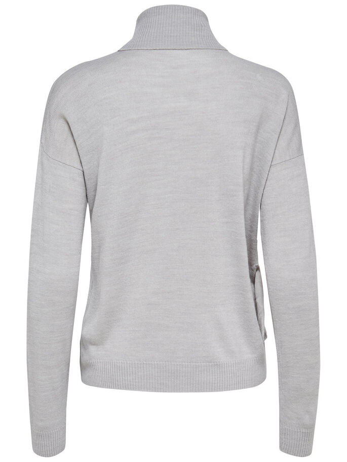 CON VOLANTE JERSEY DE PUNTO, Light Grey Melange, large