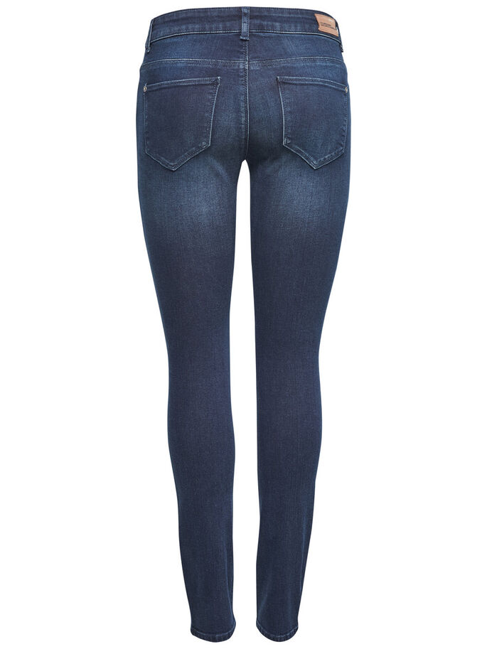 CARMEN REG BIKER SKINNY JEANS, Dark Blue Denim, large