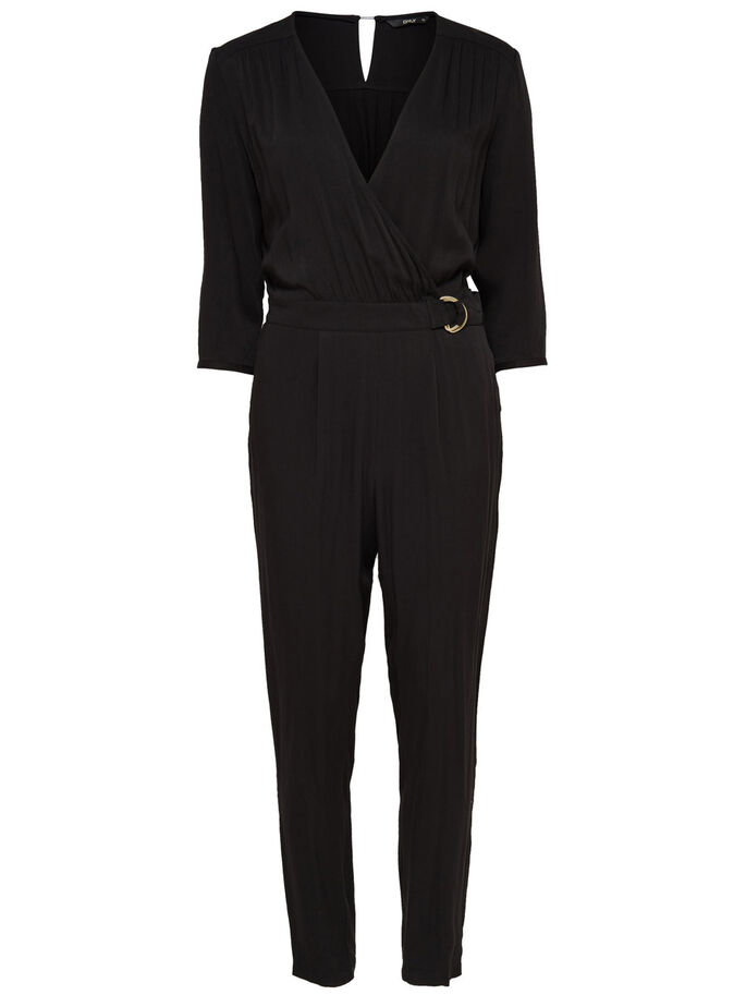 3/4-ÄRMELIGER JUMPSUIT, Black, large