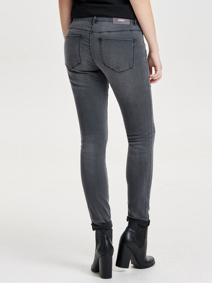 CARMEN NORMALHÖGA SKINNY FIT-JEANS, Medium Grey Denim, large