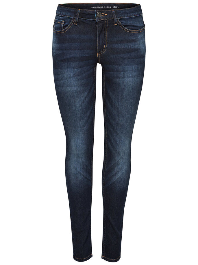 JDY LOW MAGIC SKINNY FIT JEANS, Medium Blue Denim, large