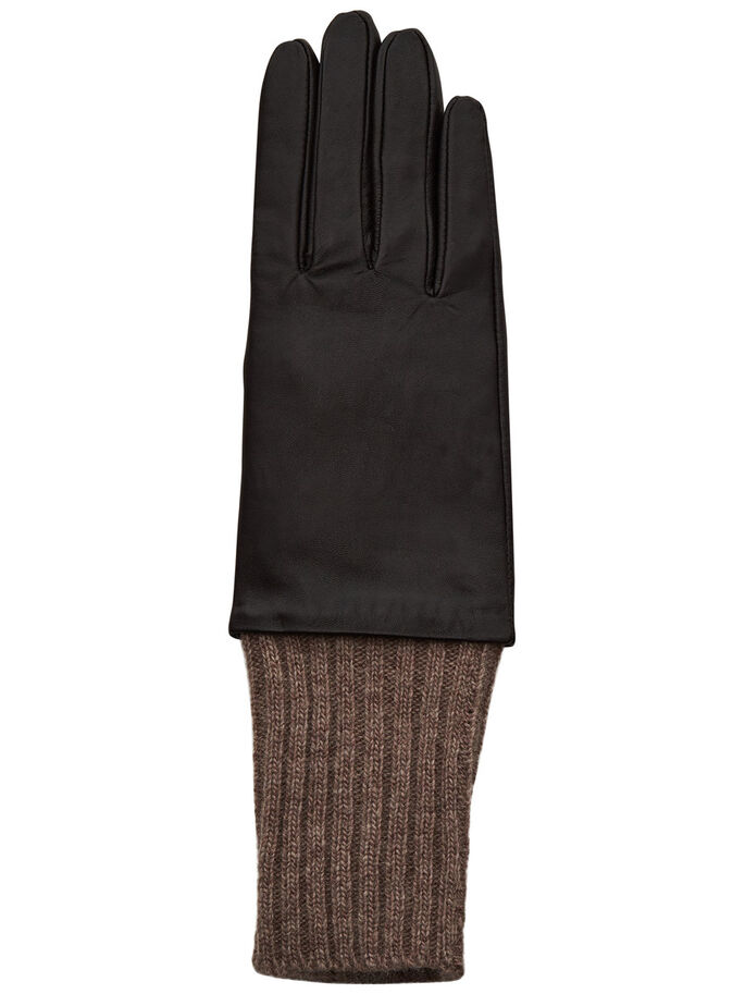 LEATHER GLOVES, Potting Soil, large