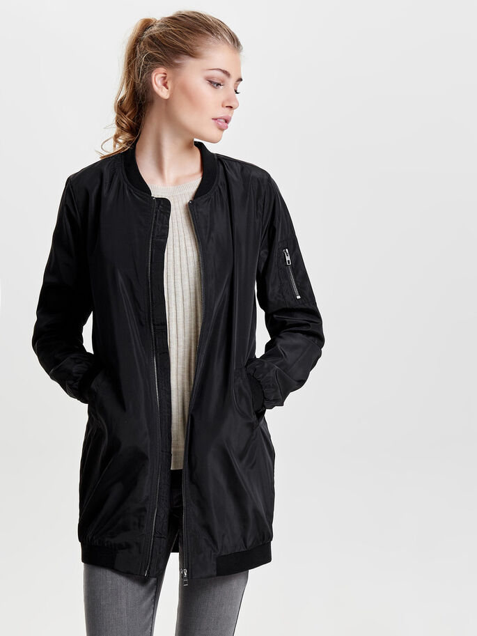 BOMBER MANTEAU, Black, large